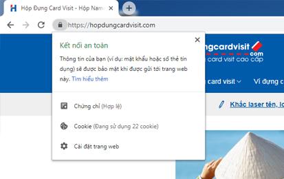 Bảo mật an toàn trên Website Hopdungcardvisit.com