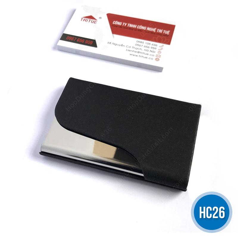 Hộp namecard da HC26 đen
